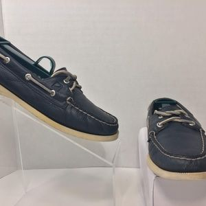 Sperry Top-Sider Women's Blue Leather Boat Shoe